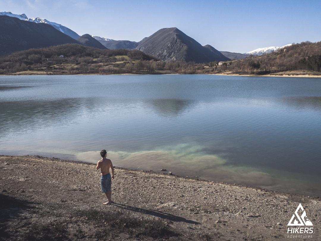 Lago di castel san vincenzo, in aprile 2018