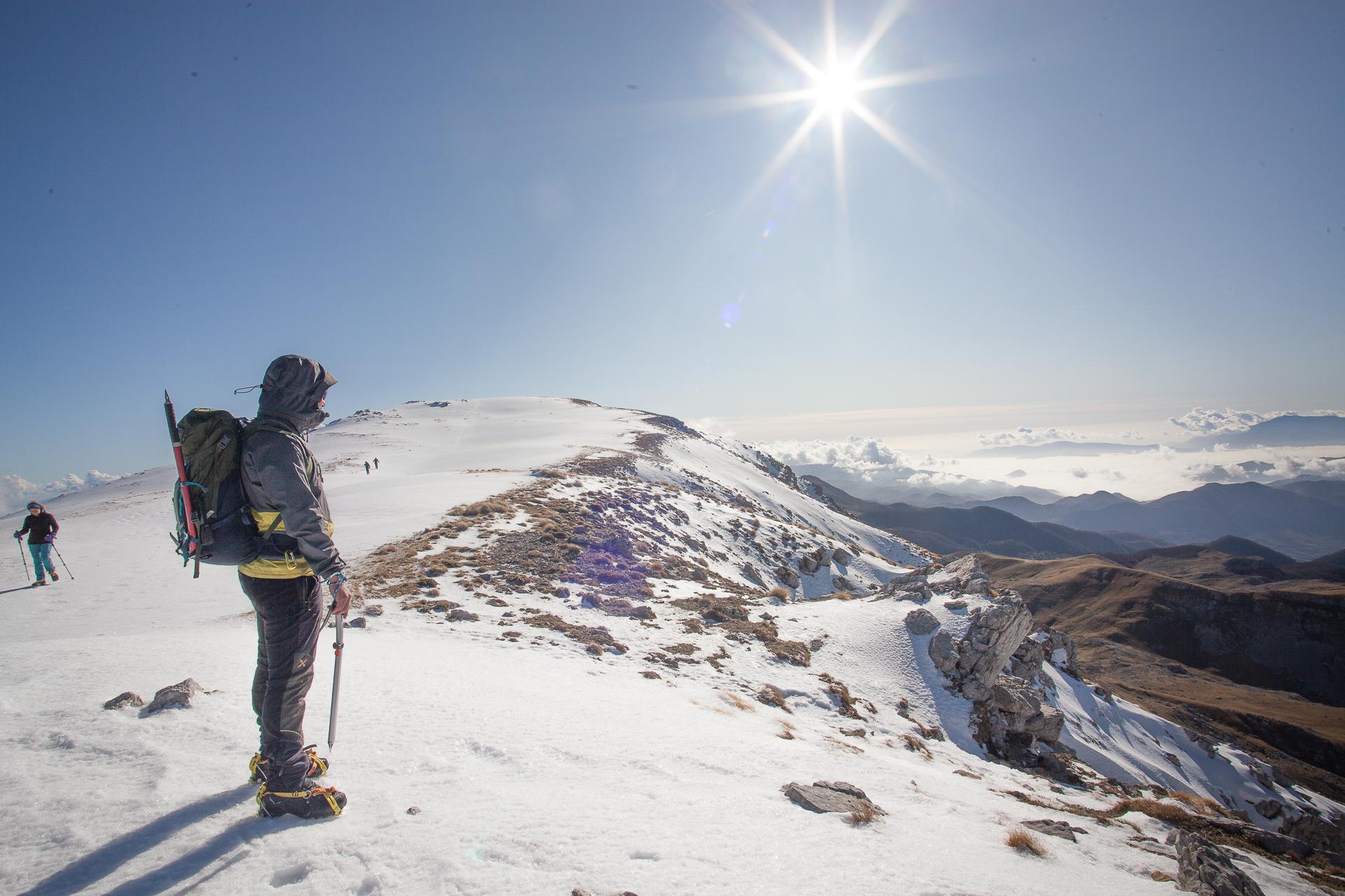 Monte la Meta. La metamorfosi della montagna nella stagione invernale